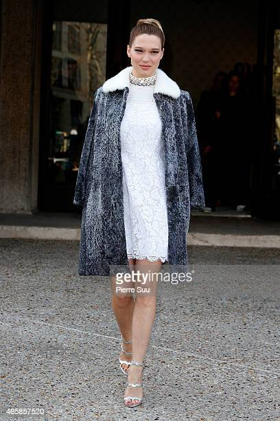 Lea Seydoux attends the Miu Miu show as part of the Paris Fashion Week Womenswear Fall/Winter 2015/2016 on March 11 2015 in Paris France
