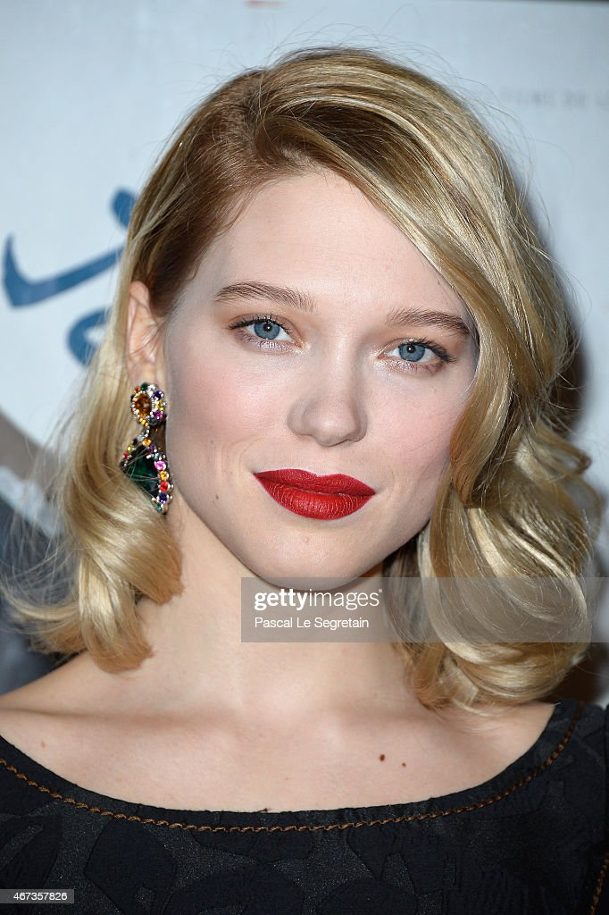 <a gi-track='captionPersonalityLinkClicked' href=/galleries/search?phrase=Lea+Seydoux&family=editorial&specificpeople=4398974 ng-click='$event.stopPropagation()'>Lea Seydoux</a> attends the Paris Premiere of 'Journal D'Une Femme De Chambre' At MK2 Bibliotheque on March 23, 2015 in Paris, France.