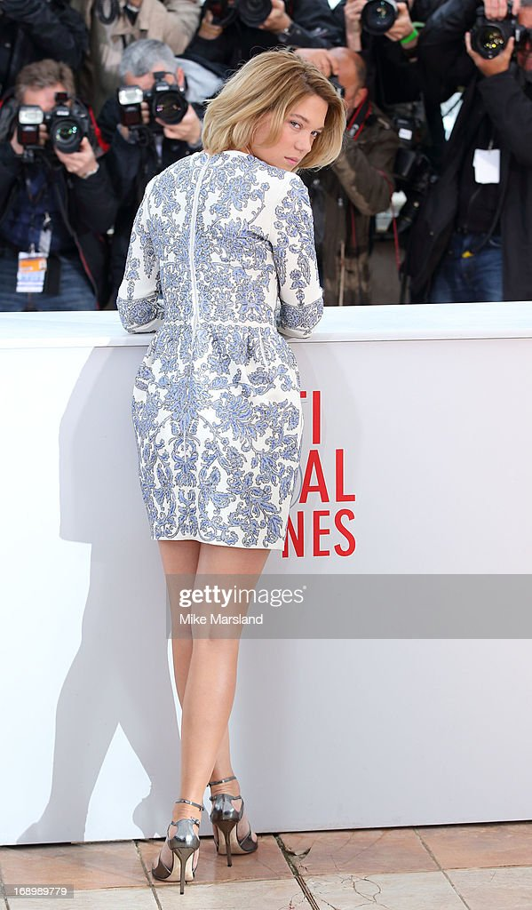 Lea Seydoux attends the photocall for 'Grand Central' at The 66th Annual Cannes Film Festival on May 18, 2013 in Cannes, France.