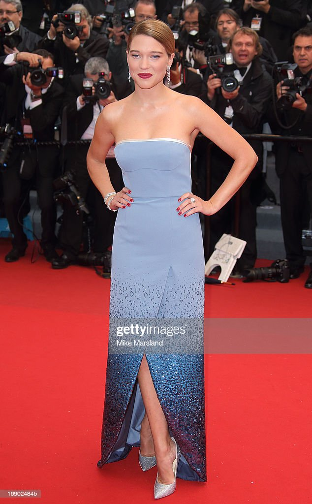Lea Seydoux attends the Premiere of 'Jimmy P. (Psychotherapy Of A Plains Indian)' at The 66th Annual Cannes Film Festival on May 18, 2013 in Cannes, France.