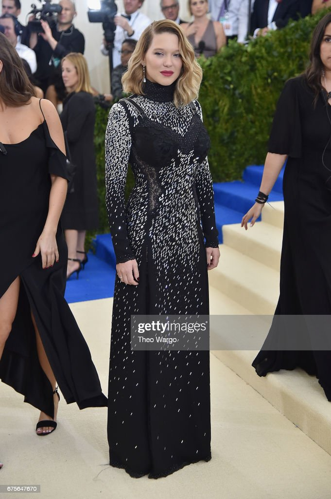 Lea Seydoux attends the 'Rei Kawakubo/Comme des Garcons: Art Of The In-Between' Costume Institute Gala at Metropolitan Museum of Art on May 1, 2017 in New York City.