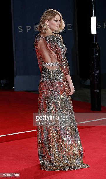 Lea Seydoux attends the Royal Film Performance of 'Spectre'at Royal Albert Hall on October 26 2015 in London England