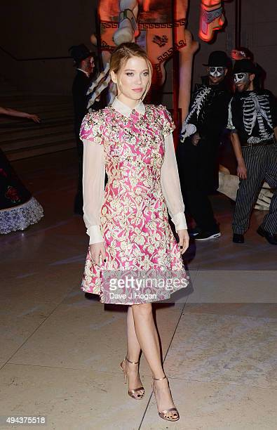 Lea Seydoux attends the Royal World Premiere after party of Spectre at The British Museum on October 26 2015 in London England