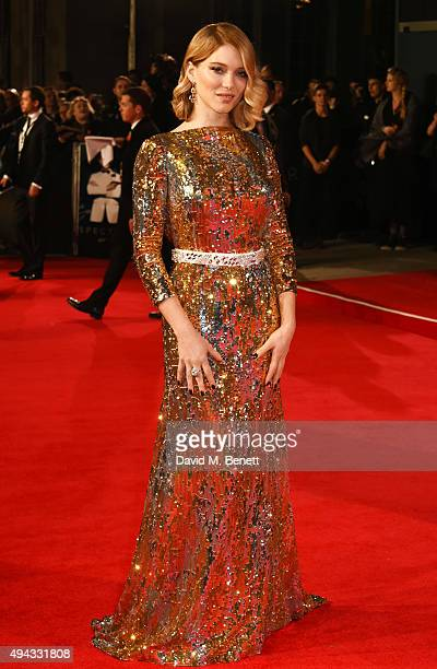 Lea Seydoux attends the Royal World Premiere of 'Spectre' at Royal Albert Hall on October 26 2015 in London England
