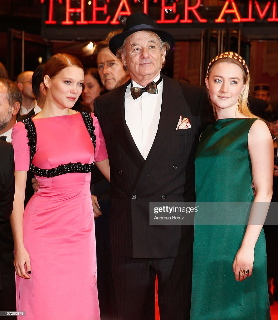 Lea Seydoux, Bill Murray and Saoirse Ronan attend 'The Grand Budapest Hotel' Premiere during the 64th Berlinale International Film Festival at Berlinale Palast on February 6, 2014 in Berlin, Germany.