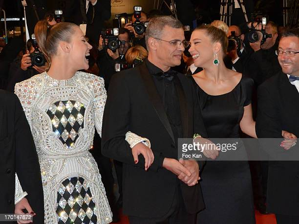 Lea Seydoux director Abdellatif Kechiche and Adele Exarchopoulos attend 'La Vie D'Adele Chapitre 1 2 Blue Is The Warmest Color' Premiere The 66th...