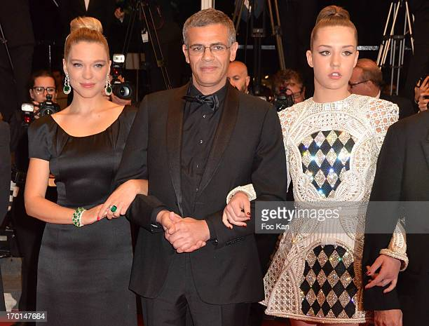 Lea Seydoux director Abdellatif Kechiche and Adele Exarchopoulos attend the 'La Vie D'Adele Chapitre 1 2 Blue Is The Warmest Color' Premiere The 66th...