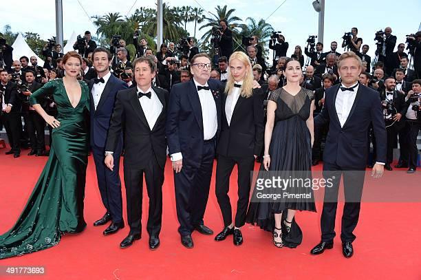 Lea Seydoux Gaspard Ulliel director Bertrand Bonello Helmut Berger Aymeline Valade and Amira Casar attend the 'Saint Laurent' premiere during the...