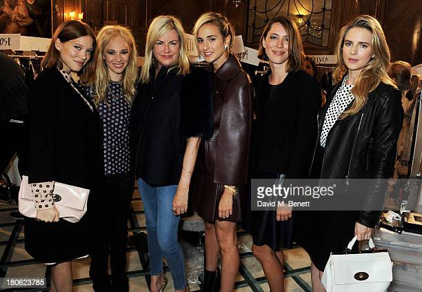 Lea Seydoux Juno Temple Mulberry Creative Director Emma Hall Elisabeth von Thurn und Taxis Rebecca Hall and Brit Marling attend the Mulberry...