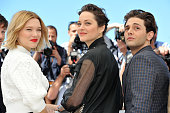Lea Seydoux Marion Cotillard and Xavier Dolan attend the 'It's Only The End Of The World ' Photocall during the 69th annual Cannes Film Festival at...