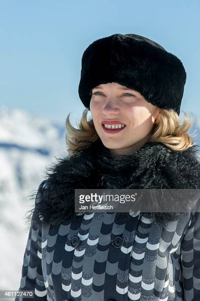Lea Seydoux poses at the photo call for the 24th Bond film 'Spectre' at ski resort on January 7 2015 in Soelden Austria