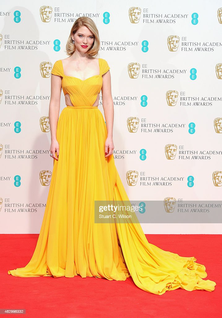 Lea Seydoux poses in the winners room at the EE British Academy Film Awards at The Royal Opera House on February 8 2015 in London England