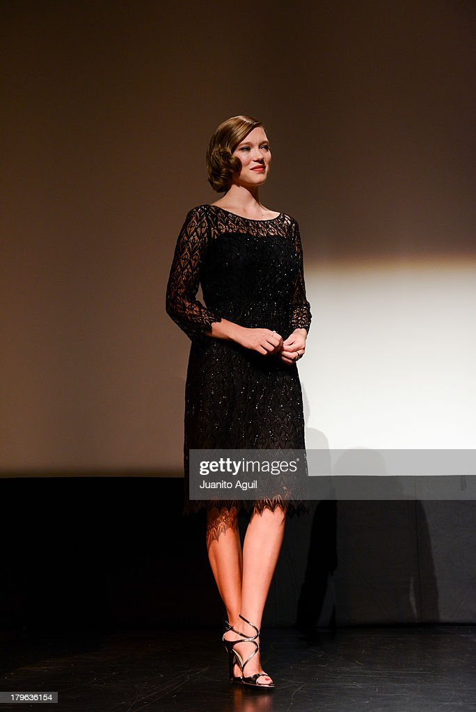 Lea Seydoux speaks onstage at the premiere of 'Blue Is The Warmest Color' at Winter Garden Theatre on September 5, 2013 in Toronto, Canada.