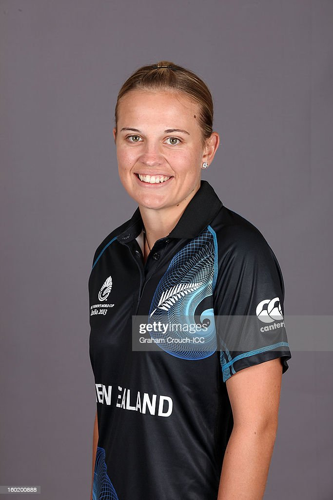 Lea Tahuhu of New Zealand poses at a portrait session ahead of the ICC Womens World Cup 2013 at the Taj Mahal Palace Hotel on January 27, 2013 in Mumbai, India.