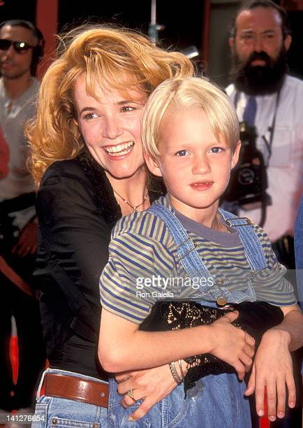 Lea Thompson and Mason Gamble at the Premiere of 'Dennis the Menace' Mann's Chinese Theatre Hollywood