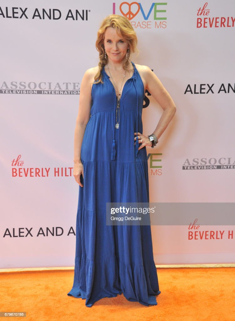 Lea Thompson arrives at the 24th Annual Race To Erase MS Gala at The Beverly Hilton Hotel on May 5, 2017 in Beverly Hills, California.