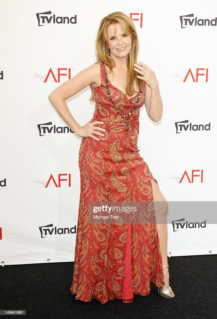 <a gi-track='captionPersonalityLinkClicked' href=/galleries/search?phrase=Lea+Thompson&family=editorial&specificpeople=210564 ng-click='$event.stopPropagation()'>Lea Thompson</a> arrives at TV Land Presents: AFI Life Achievement Award honoring Shirley MacLaine held at Sony Studios on June 7, 2012 in Los Angeles, California.