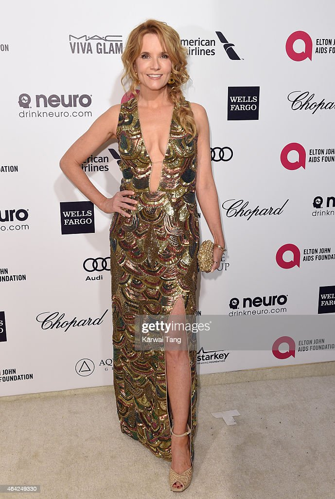 Lea Thompson attends the Elton John AIDS Foundation's 23rd annual Academy Awards Viewing Party at The City of West Hollywood Park on February 22, 2015 in West Hollywood, California.