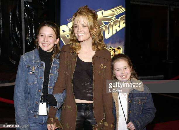 Lea Thompson daughters during 'Back To The Future' Reunion And DVD Launch Party at Universal backlot in Universal City California United States