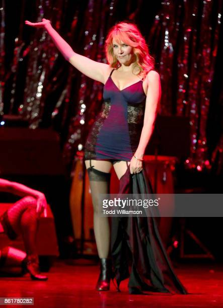 Lea Thompson performs onstage at National Breast Cancer Coalition Fund's 17th Annual Les Girls Cabaret at Avalon Hollywood on October 15 2017 in Los...