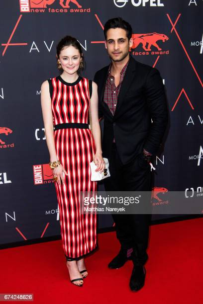 Lea van Acken and Karim Guenes attend the New Faces Award Film at Haus Ungarn on April 27 2017 in Berlin Germany