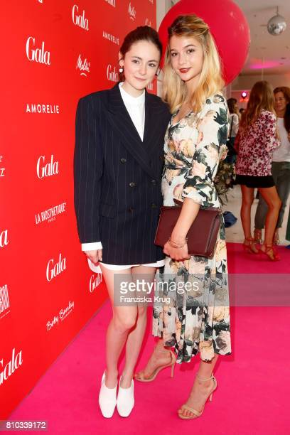 Lea van Acken and LisaMarie Koroll attend the Gala Fashion Brunch during the MercedesBenz Fashion Week Berlin Spring/Summer 2018 at Ellington Hotel...