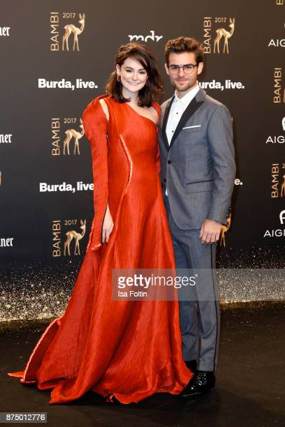 Lea van Acken and Lucas Reiber arrive at the Bambi Awards 2017 at Stage Theater on November 16 2017 in Berlin Germany