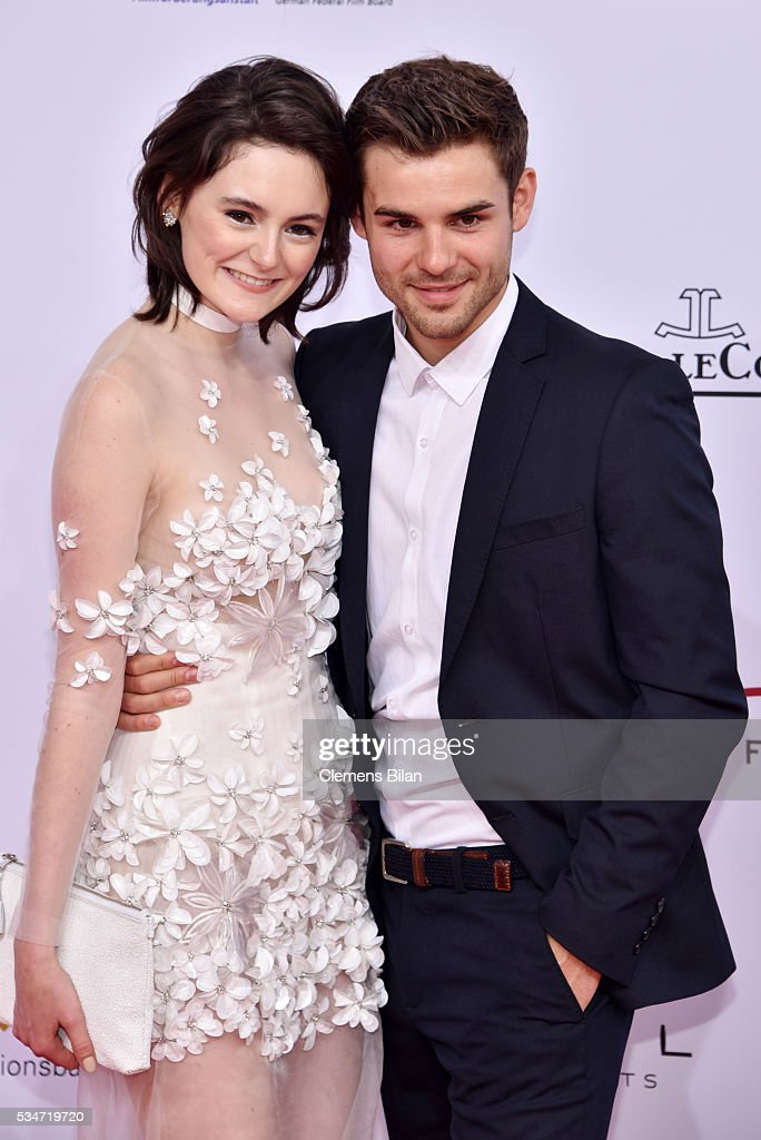 Lea Van Acken and Lucas Schreiber attend the Lola - German Film Award (Deutscher Filmpreis) on May 27, 2016 in Berlin, Germany.