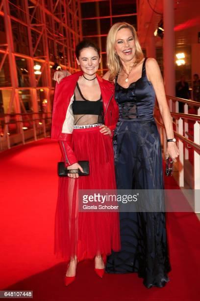 Lea van Acken and Nina Ruge during the Goldene Kamera reception at Messe Hamburg on March 4 2017 in Hamburg Germany