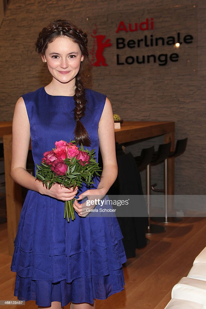 Lea van Acken attends the AUDI Lounge at the Marlene Dietrich Platz during day 4 of the Berlinale International Film Festival on on February 9, 2014 in Berlin, Germany.