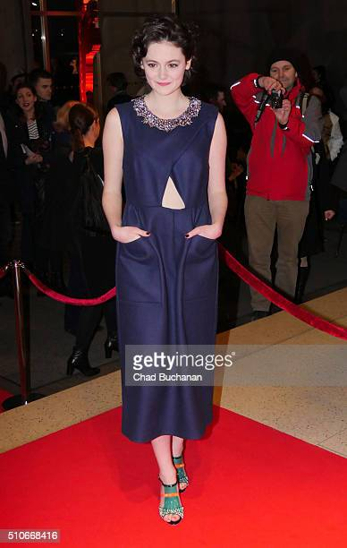 Lea van Acken attends the 'Tagebuch der Anne Frank' premiere during the 66th Berlinale International Film Festival Berlin at on February 16 2016 in...