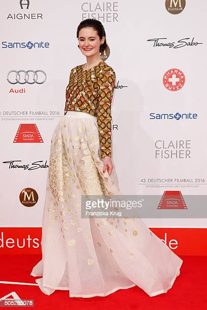 Lea van Acken during the German Film Ball 2016 at Hotel Bayerischer Hof on January 16 2016 in Munich Germany