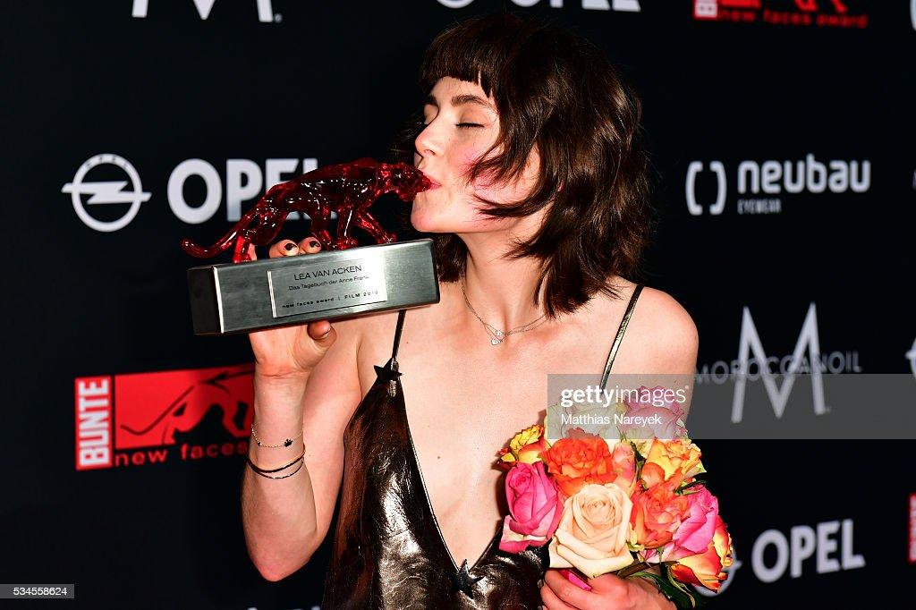 Lea van Acken during the New Faces Award Film 2015 at ewerk on May 26, 2016 in Berlin, Germany.