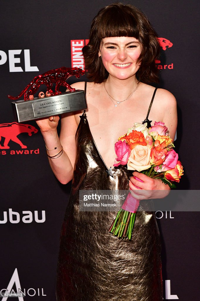 <a gi-track='captionPersonalityLinkClicked' href=/galleries/search?phrase=Lea+van+Acken&family=editorial&specificpeople=12462619 ng-click='$event.stopPropagation()'>Lea van Acken</a> during the New Faces Award Film 2015 at ewerk on May 26, 2016 in Berlin, Germany.