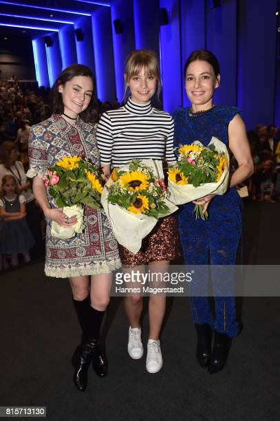 Lea van Acken Hanna Binke and Nicolette Krebitz during the 'Ostwind Aufbruch nach Ora' premiere n Munich at Mathaeser Filmpalast on July 16 2017 in...
