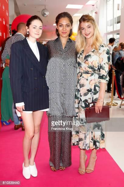 Lea van Acken Nilam Farooq and LisaMarie Koroll attend the Gala Fashion Brunch during the MercedesBenz Fashion Week Berlin Spring/Summer 2018 at...