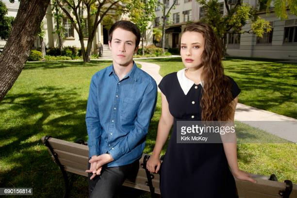 Lead actors Dylan Minnette and Katherine Langford star in Netflix's teen drama 13 REASONS WHY based on the 2007 novel Thirteen Reasons Why by Jay...