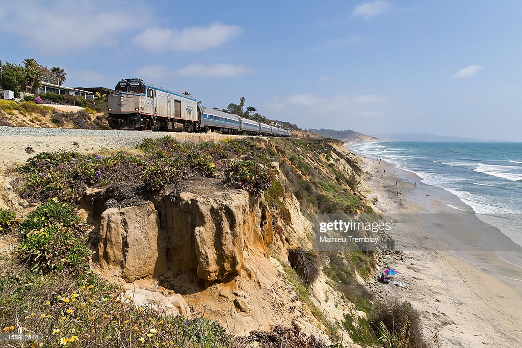CONTENT] Lead by non-powered cab unit (NPCU) 90208, Amtrak train number 583 heads north through Del Mar, CA along the scenic Surf Line.