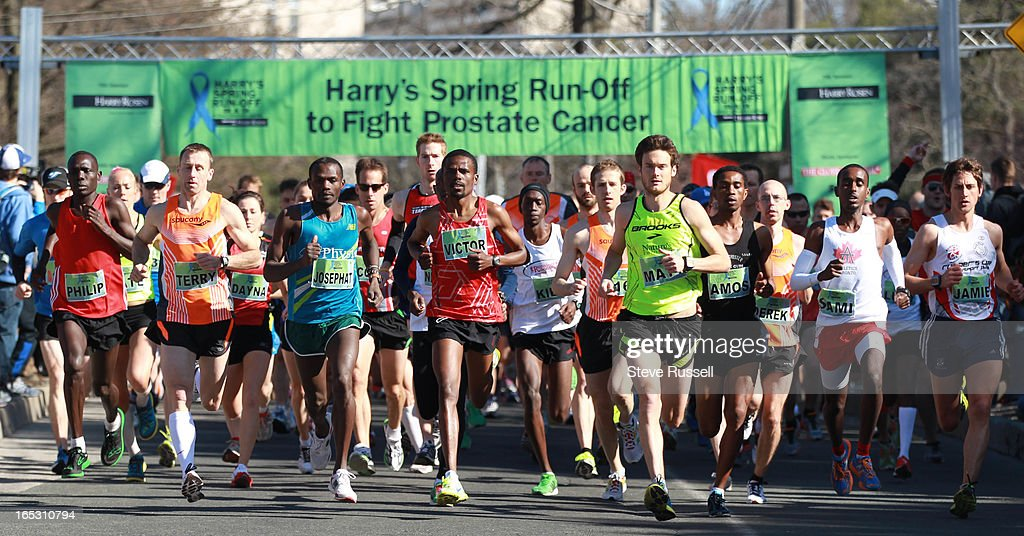 Lead by the elite runners the 8 k kicks off at Harry's Spring Run Off the first race of the season and a fund raiser for Prostate Cancer in High Park...