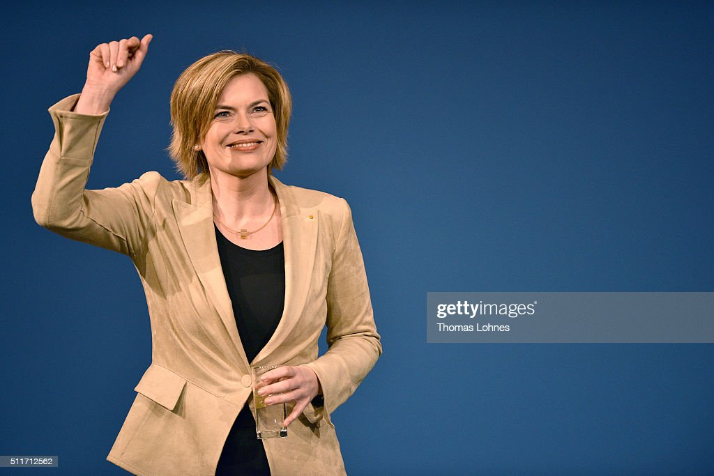 CDU lead candidate for Rhineland-Palatinate Julia Kloeckner speaks at an election campaign rally on February 22, 2016 in Landau in der Pfalz, Germany. State elections scheduled for March 13 in three German states: Rhineland-Palatinate, Saxony-Anhalt and Baden-Wuerttemberg, will be a crucial test-case for German Chancellor and Chairwoman of the German Christian Democrats (CDU) Angela Merkel, who has come under increasing pressure over her liberal immigration policy towards migrants and refugees. The right-wing Alternative fuer Deutschland (AfD), with campaign rhetoric aimed at Germans who are uneasy with so many newcomers, has solid polling numbers and will almost certainly win seats in all three state parliaments.