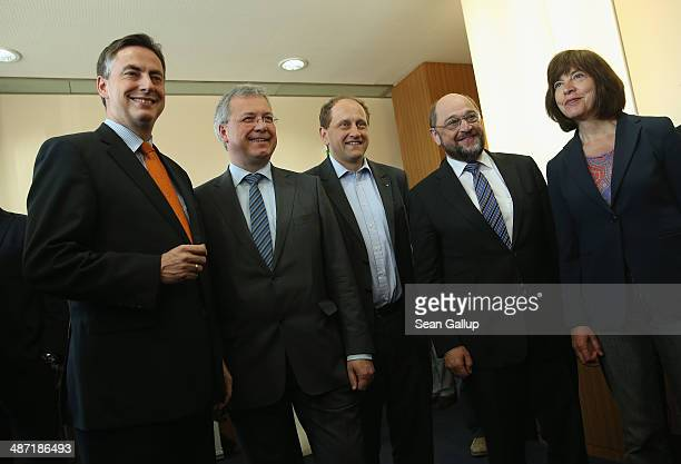 Lead candidates David McAllister of the German Christian Democrats Markus Ferber of the Bavarian Christian Democrats Alexander von Lambsdorff of the...