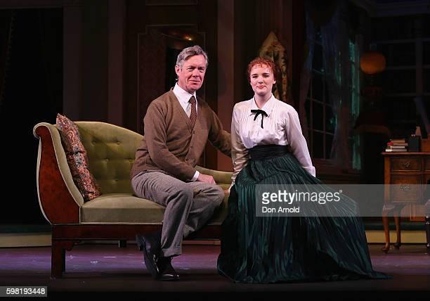 Lead cast members Alex Jennings and Anna O'Byrne pose during the My Fair Lady Production Media Call at Sydney Opera House on September 1 2016 in...