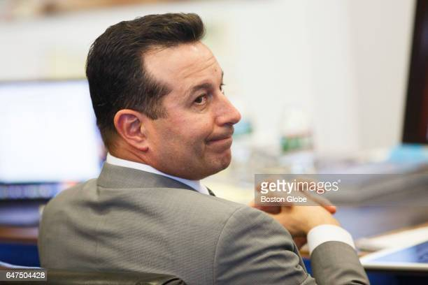 Lead defense attorney Jose Baez listens to testimony during the double murder trial of former New England Patriots tight end Aaron Hernandez at...