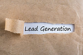 Lead Generation Concept - message in uncover letter.
