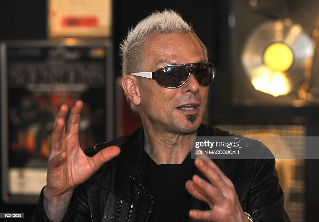 END - Lead guitarist Rudolf Schenker of the iconic German heavy metal band Scorpions speaks during an interview with AFP in Hanover, northern Germany on May 27, 2009.