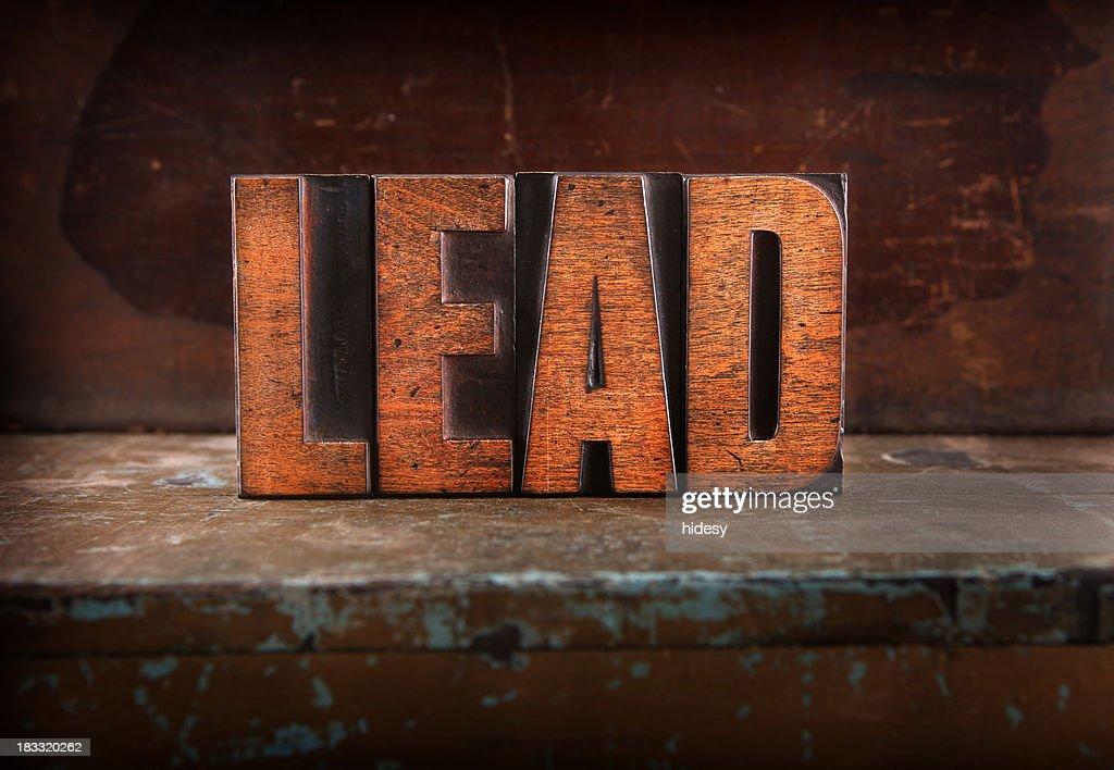 Lead - Letterpress letters