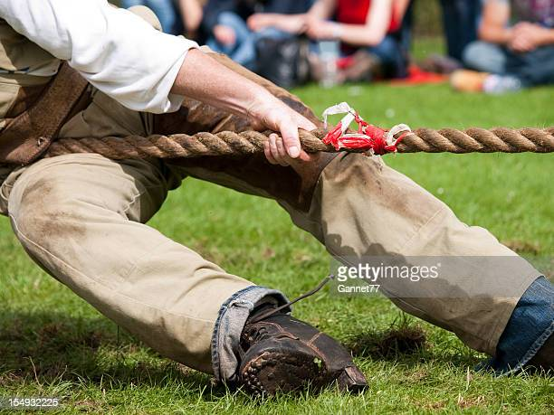 Lead man in Tug of War contest