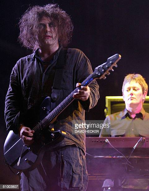 Lead singer and guitarist of British pop group 'The Cure' Robert Smith performs at the open air Hurricane Festival in Scheessel 26 June 2004 Other...