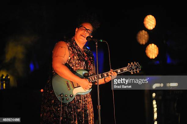 Lead Singer Brittany Howard of the music group the Alabama Shakes performs at The Beacon Theatre on March 11 2015 in New York City