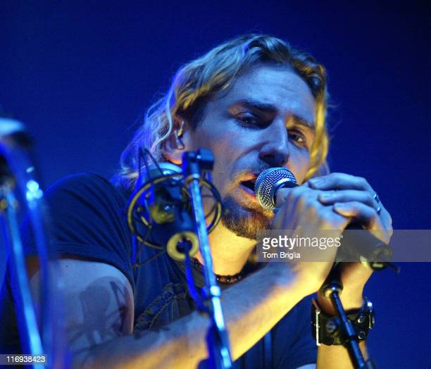 Lead singer Chad Kroeger of Nickelback during Nickelback Performing At The Borgata Hotel Casino Spa In Atlantic City at Nickelback Performing At The...